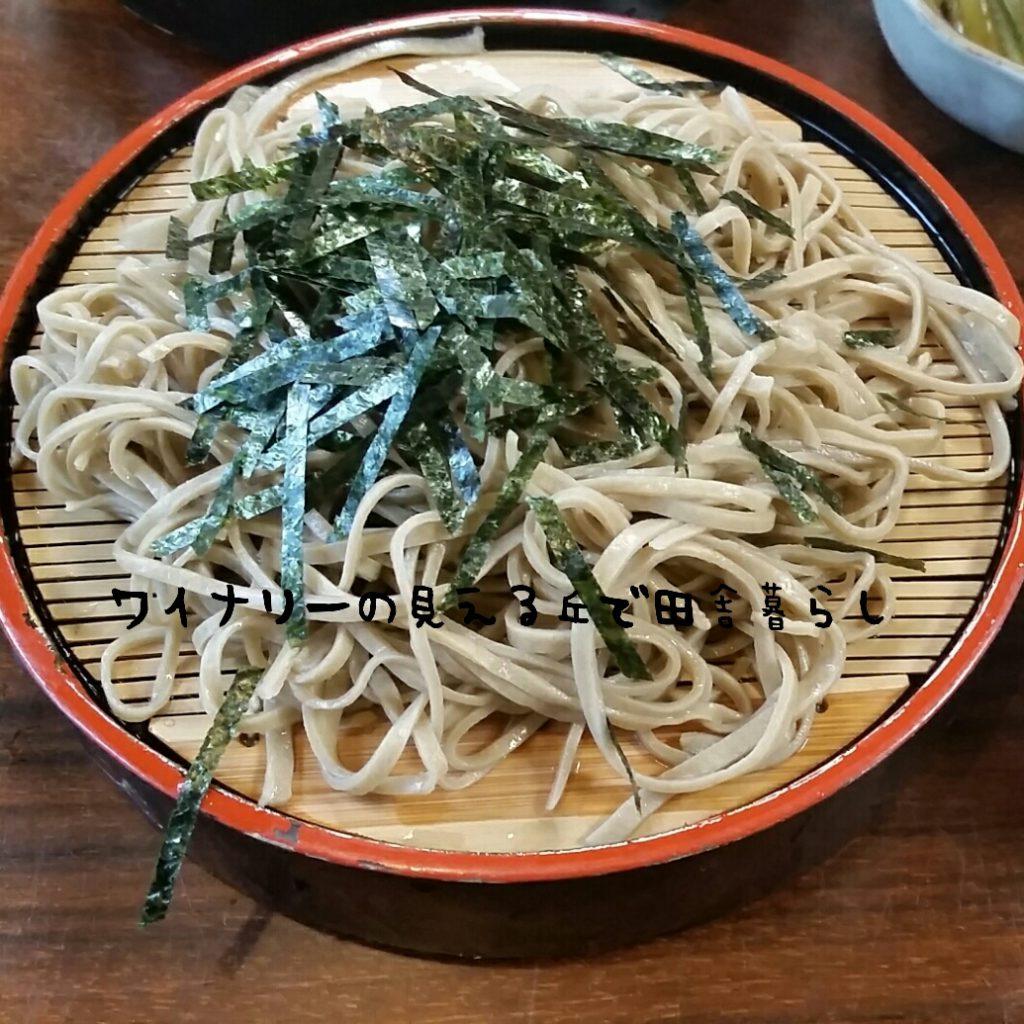 長野県はそばが有名。食べてきたよ!ざるそば!