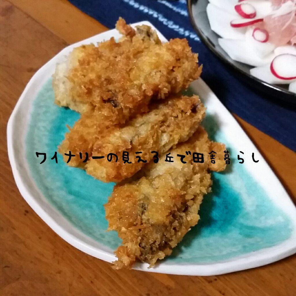 残った牡蠣はカキフライに。冷凍のカキフライよりも大きい!