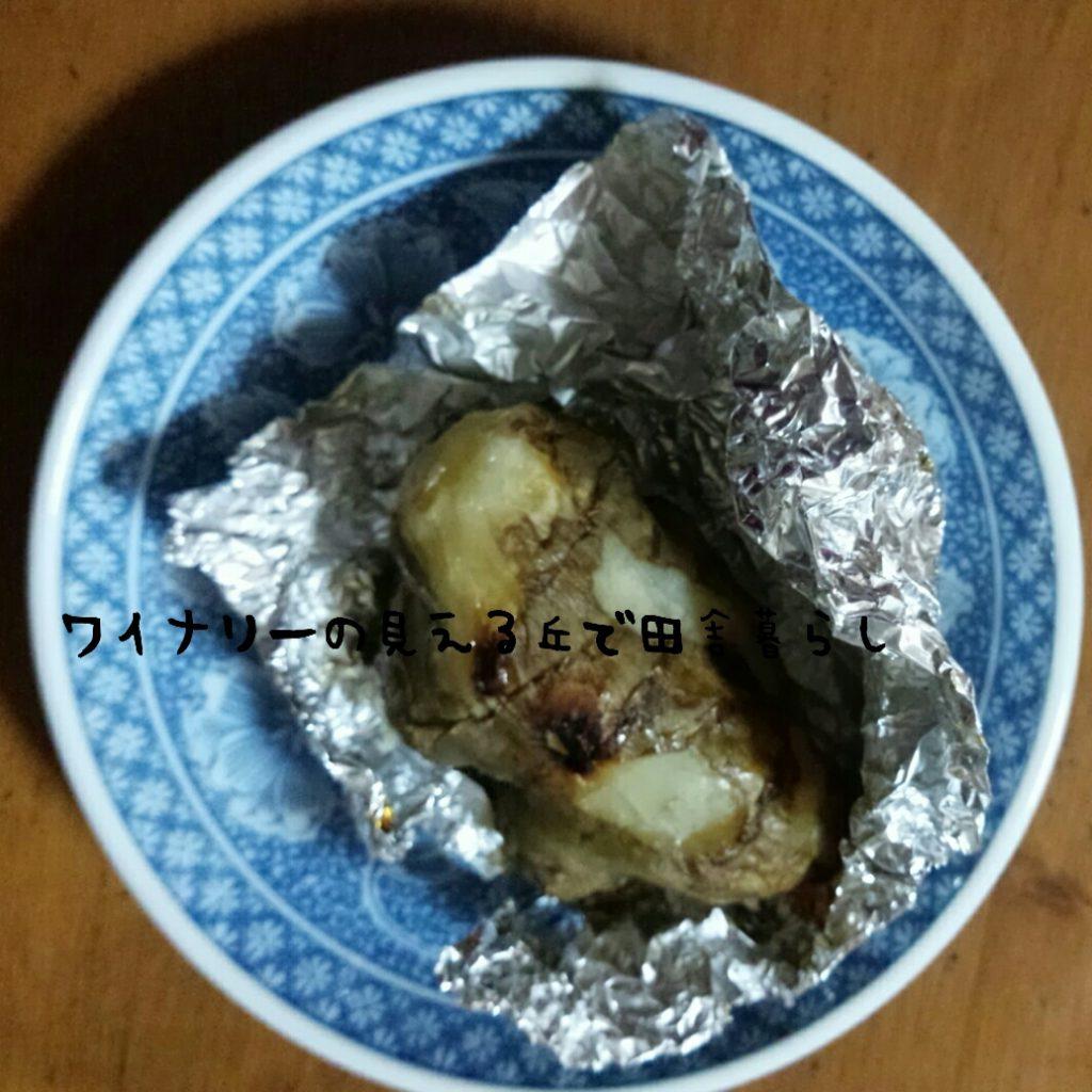 糖尿病予防の栄養素があるという菊芋をホイル焼きにした1月30日の夕飯