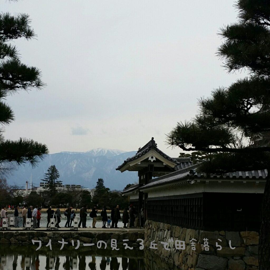 松本城が選ばれた。世界の名城40選に松本城が入っている。