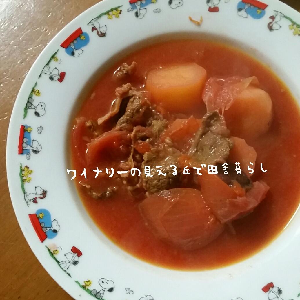 12月29日はボルシチで。12月上旬に収穫したビーツを使って本格的な料理。