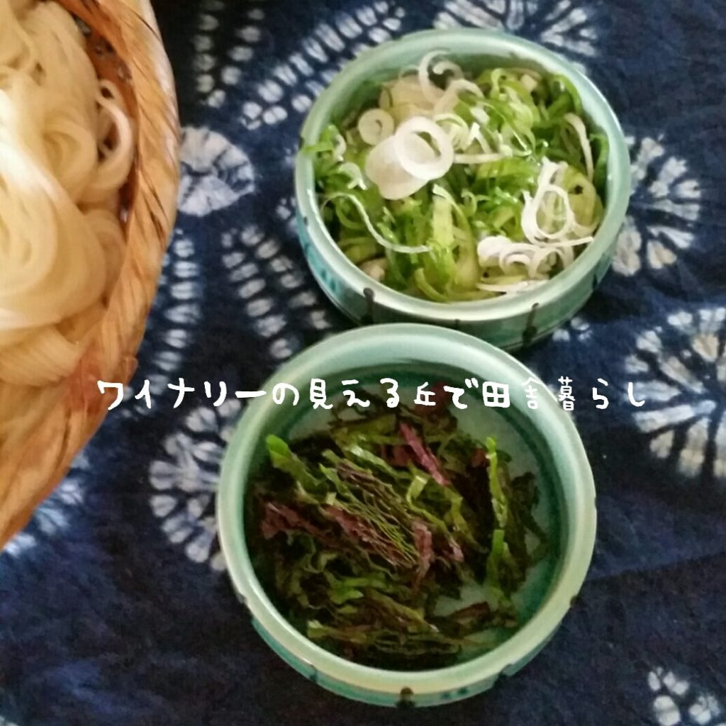 8月12日の昼食と夕食。