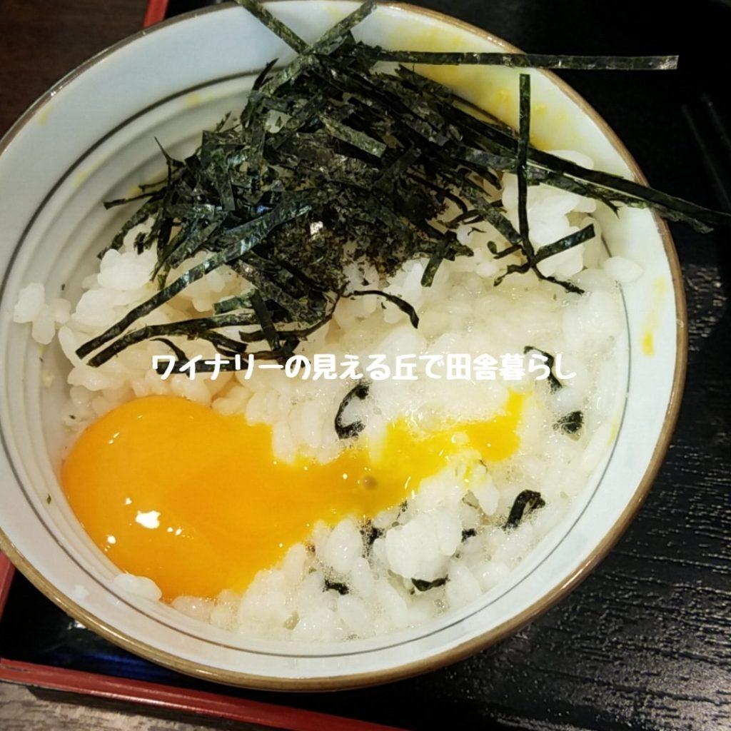 ちゃたまやが卵かけごはん食べ放題になった!佐久市で鳥を味わうランチ定食!福袋も購入!